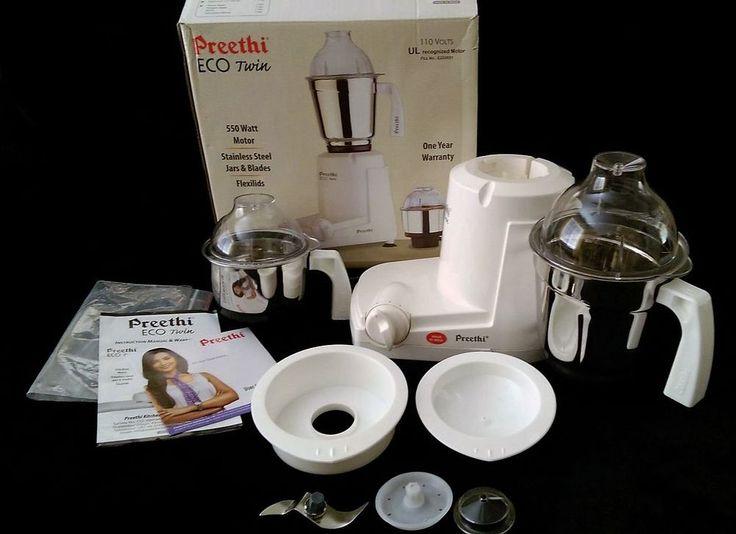Preethi ECO Twin Jar Mill Food Grinders Mixer 550 Watt