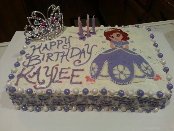 Sofia the First cake (kaylees 5th birthday)