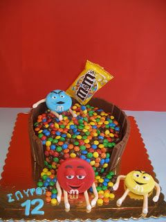 Sweet cookies 4 you: Τούρτα m&m's  (Cake m&m's)