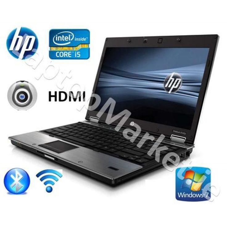 HP Elite 8440p 14.0 Wide Core i5 2.9 Webcam HDMI 4GB 320GB Win7 DVD