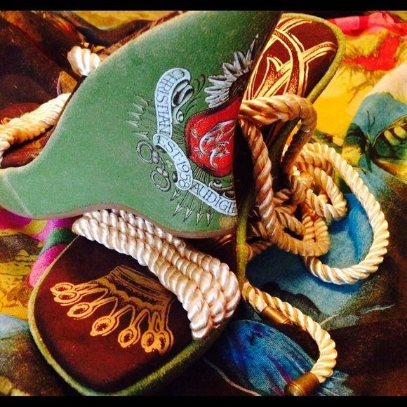 Christian Audigier Shoes - NWOT never worn Christian audigier wedges