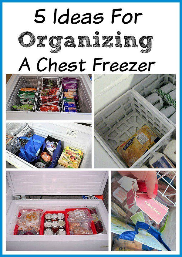 Organizing Your Chest Freezer | freezers are great for stocking up on food bought on sale. But part of saving money on groceries is knowing what you already have and that's hard if you don't have some sort of system for keeping your freezer organized!