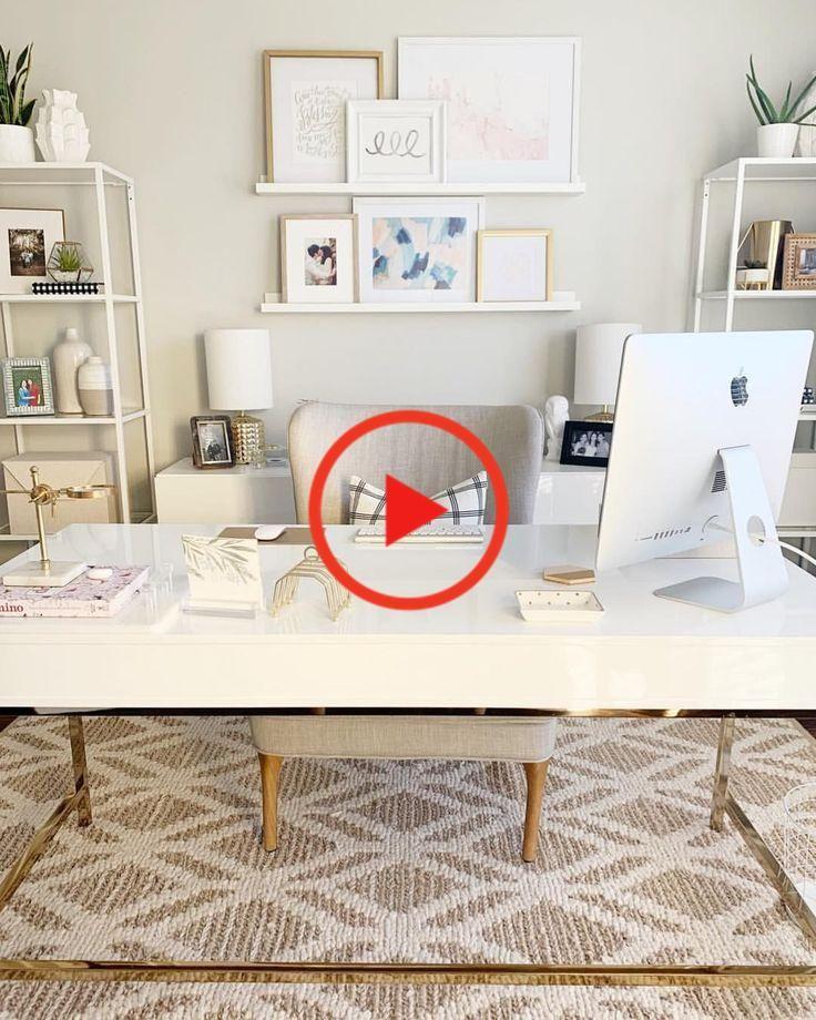 Deze Prachtige Thuiskantoren Evenals Designer Ontwerpen Suggesties Zal Niet Alleen Invloed Op De Home Office Design White Home Decor Home