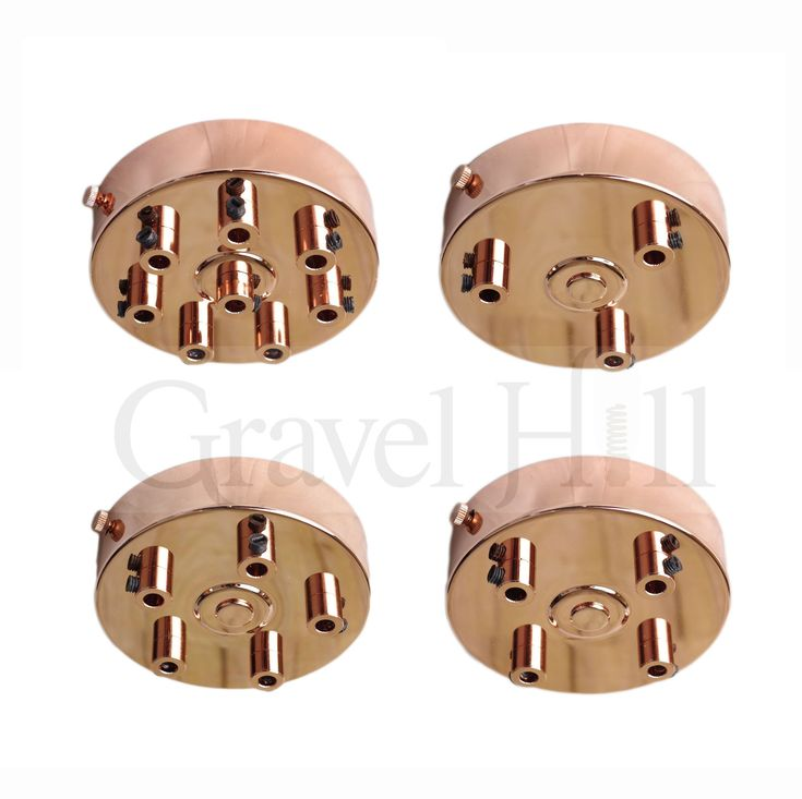 'Premium ' All Copper Multi Outlet Ceiling Roses 1 – 9 Way Drop Options