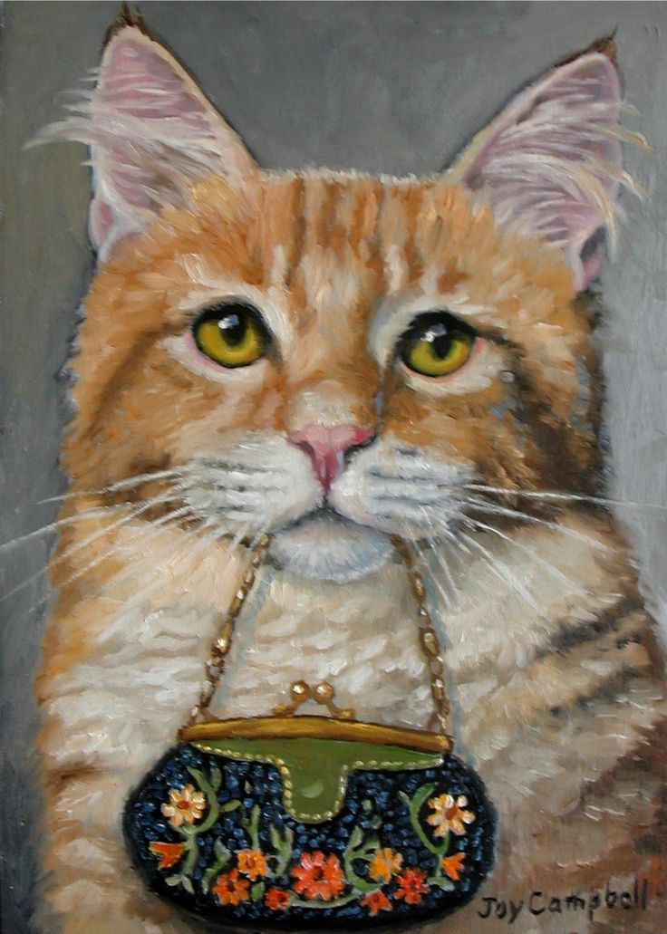 """Kitty Cat and Fancy Purse"" par Joy Campbell"