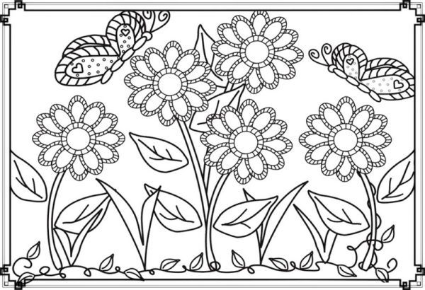 Flower Garden Coloring Pages Collection Free Coloring Sheets Printable Flower Coloring Pages Garden Coloring Pages Spring Coloring Pages