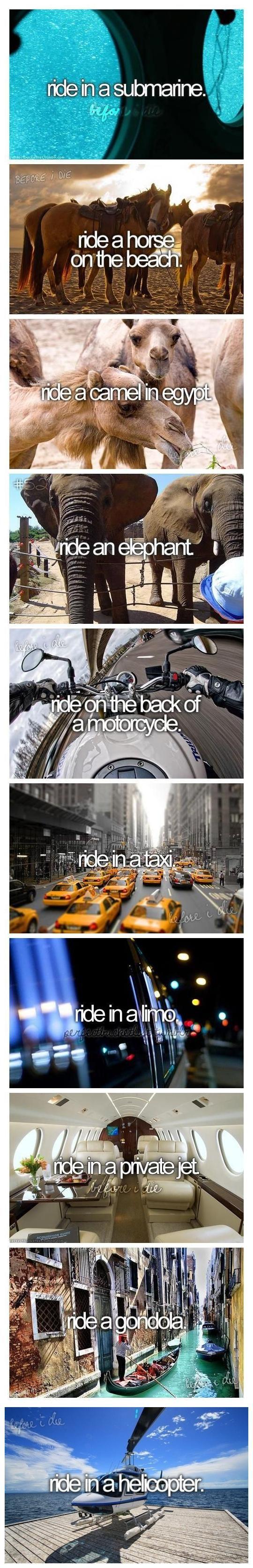 Before I die... #bucketlist