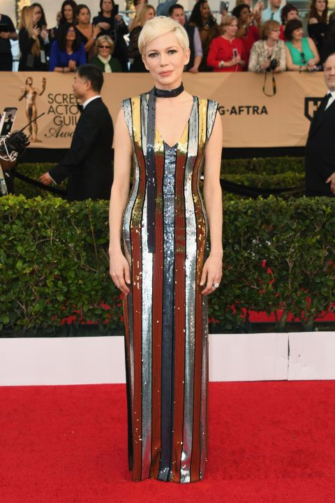 See who stunned and shined on the 2017 SAG Awards red carpet: Michelle Williams
