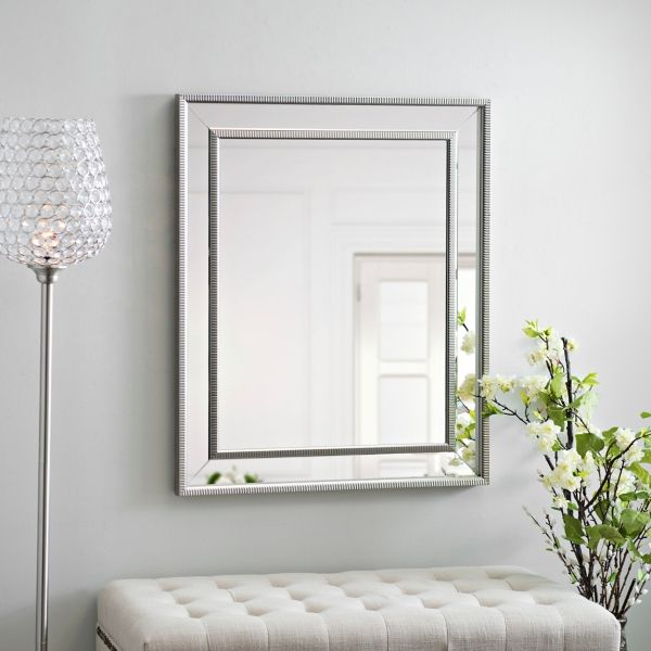 Small Silver Luxe Mirror 29 5x35 5 In Unique Mirrors Luxe