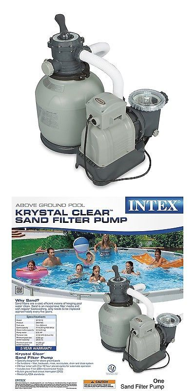 Pool Pumps 181485: Intex Krystal Clear Sand Filter Pump For Above Ground Pools 2800 Gph Pump Flo... -> BUY IT NOW ONLY: $166.25 on eBay!