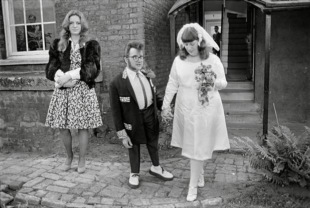G.B. 1976. England. London. The Teds. Tongue Tied Danny's wedding. Chris Steele-Perkins. I like the couples style in this image, and the happiness and unity they possess. As well as individuality.