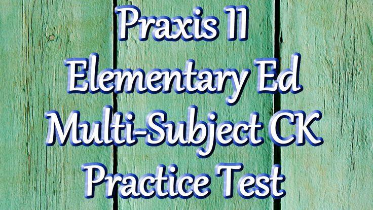 Free Praxis II Elementary Education (5001) Multi-subject Math Practice Test