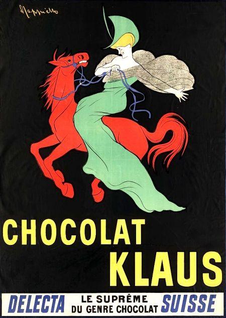Leonetto Capiello (Italie/France, 1875-1942) – Affiche Chocolat Klaus (1903)