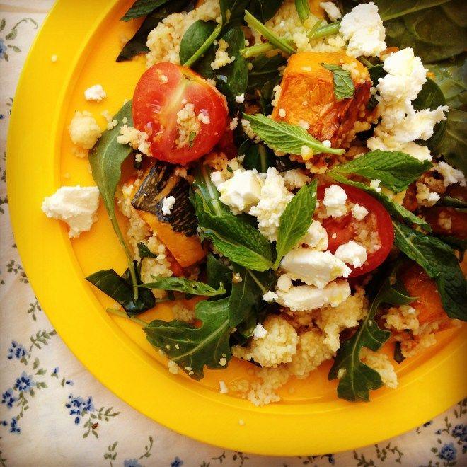 roast pumpkin & feta couscous salad