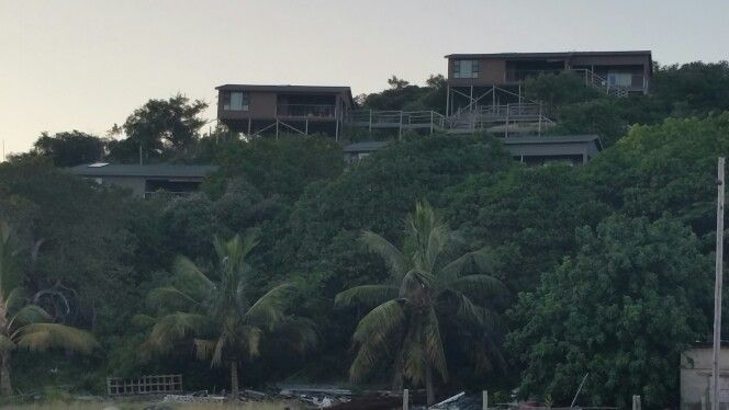 View of the chalets, from the beach... #GeeCeeWedding2015