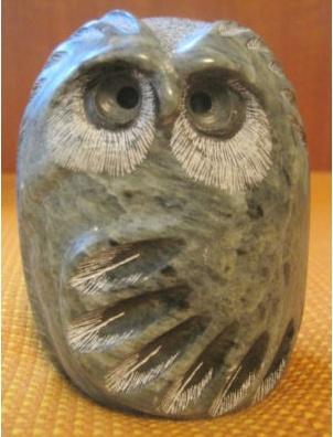 Glenn Heath soapstone owl sculptures