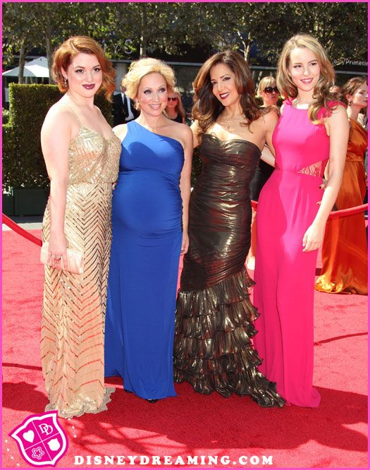 Jennifer Stone, Leigh-Allyn Baker, Maria Canals-Barrera And Bridgit Mendler At The Creative Arts Emmy Awards