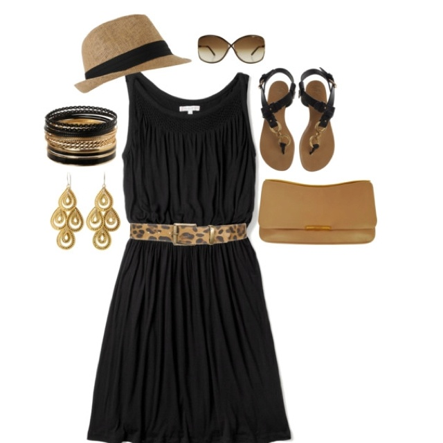 Vacation style!! Need the belt and hat!