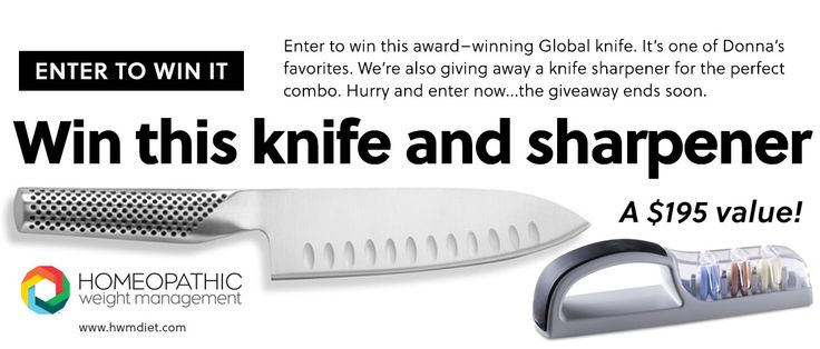 **THIS CONTEST HAS ENDED**Enter our May #GIVEAWAY for a chance to win this award-winning Global knife & sharpener valued at $195!