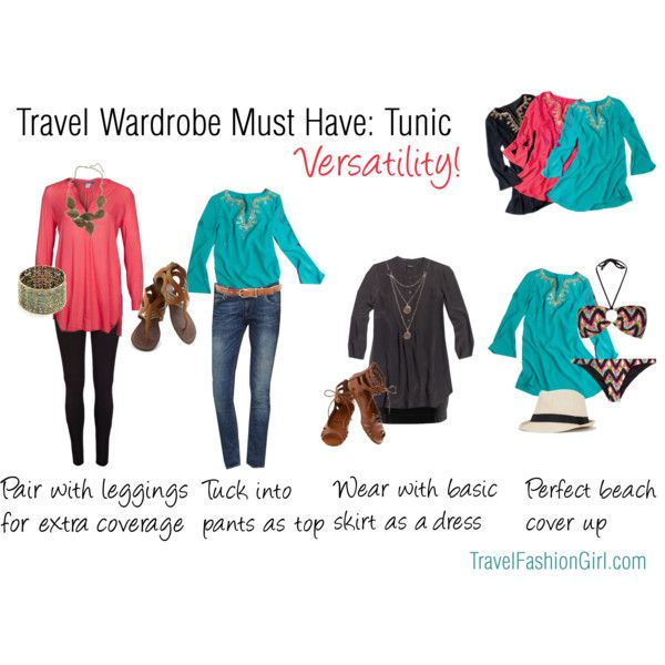 A tunic is a versatile piece that can serve different purposes and can be worn in a variety of settings - perfect for travel.