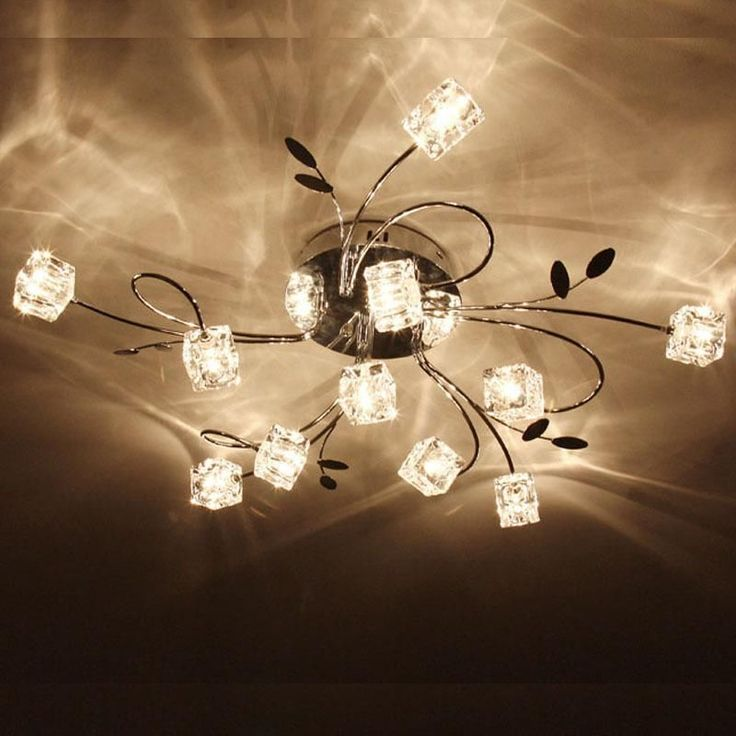Modern Ceiling Chandelier Lights Lamps With Aluminum Wire Glass Lampshades No Asdescribed