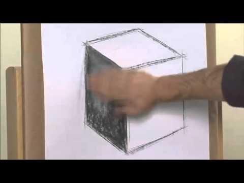 Curso Práctico de Dibujo y Pintura Nº 1 (El Carboncillo Primeros Trazos) - YouTube