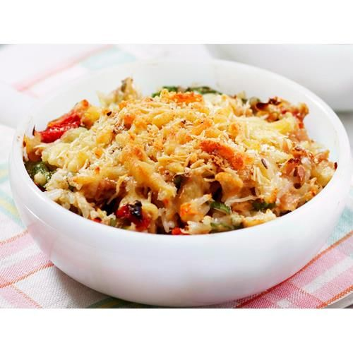 Some leftover rice, a can of tuna and a few pantry ingredients are all you need to whip up this simple and satisfying tuna and rice bake by Woman's Day for dinner tonight.