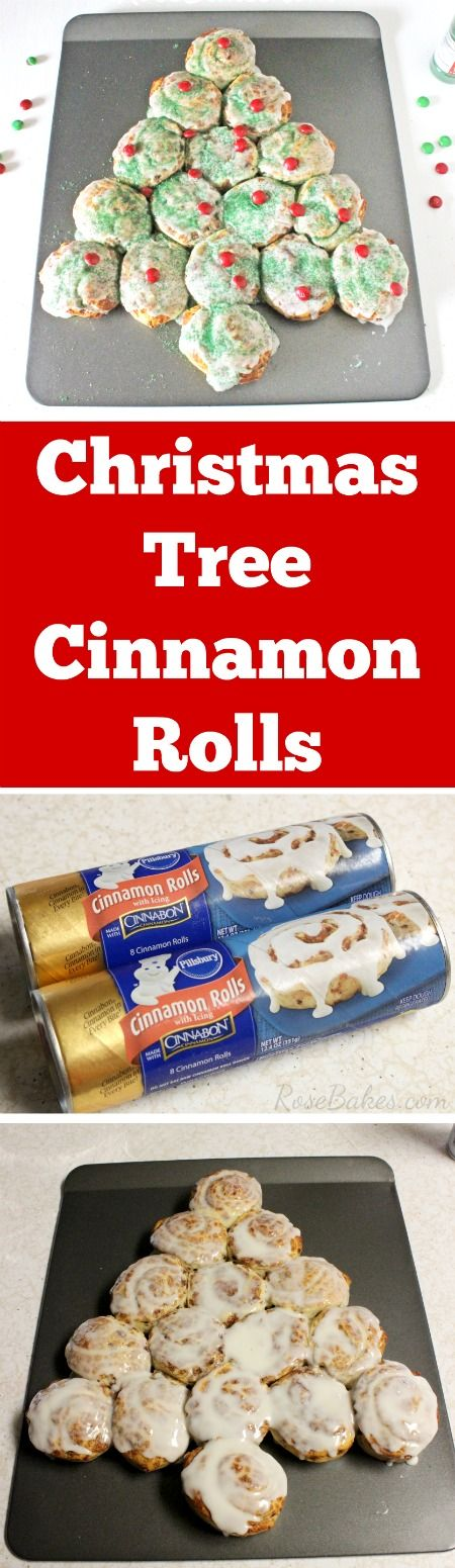 Christmas Tree Cinnamon Rolls
