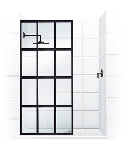 Gridscape Series Factory Windowpane Shower Screen [40 in. Width x 80 in. Height] in Oil-Rubbed Bronze With Clear Tempered Glass   Coastal Shower Doors Coastal Shower Doors http://www.amazon.com/dp/B00NGETAQC/ref=cm_sw_r_pi_dp_0CDnwb14666J4