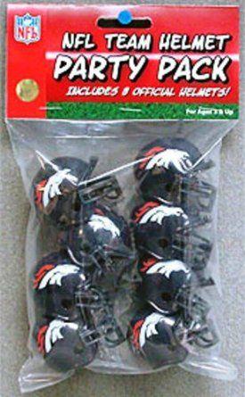 Amazon.com: Denver Broncos RIDDELL NFL TEAM HELMET PARTY PACK: Sports & Outdoors