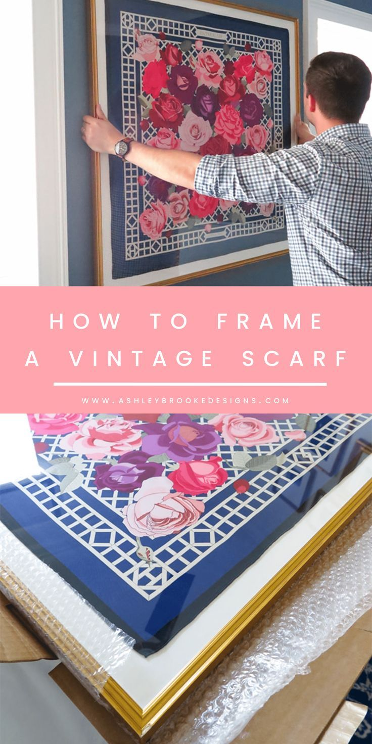 How We Framed a Vintage Hermes Scarf Ashley brooke