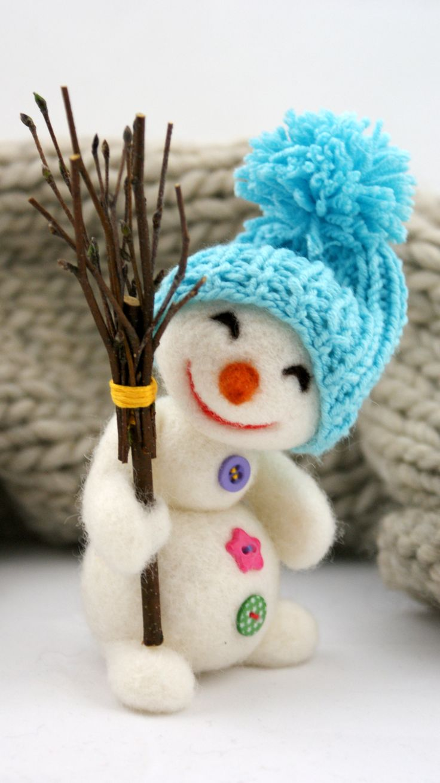 zarażamy uśmiechem :D #bałwan #zima #filc #polandhandmade #felt #ooak #teddybear #fartfilcinietylko #fartownemisie #toy