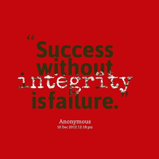 Of business definition in integrity