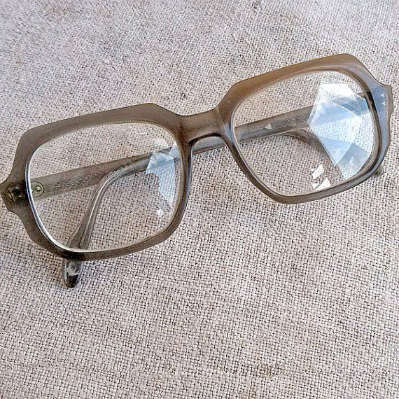 Plastic reading <b>glasses</b> in gray <b>rectangle</b> frame Unique gift idea ...