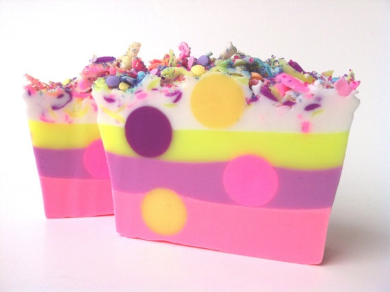 Owlicious Pink Sugar Polka Dotted Soap with a by pinkdottedowl, $5.75