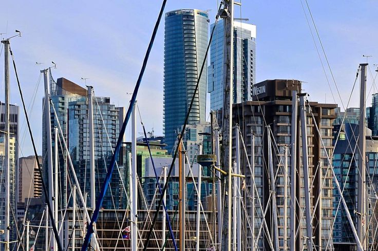 """""""The Trump International Hotel & Tower Vancouver"""" Grand Opening Summer 2016 . Seen from #stanleypark 2016.02.25 . . STATS Floors: 59 Height: 187.80m Use: Hotel / Residential [strata] Units: Hotel - 147 Units: Strata - 218 Completed: 2016 Architectural style: structural expressionism Trivia: The tower will have Canada's first ever rooftop pool bar. I don't care what the tower is called. That's pretty damn cool... . . #vancouver #bc #canada #skyscraper #architecture #IGS_CAN…"""