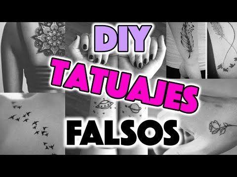 CÓMO HACER TATUAJES FALSOS EN CASA Y QUE PAREZCAN REALES  HOLA HERMOSURA - YouTube