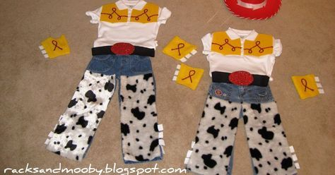DIY Jessie from Toy Story Costumes - no sewing involved!  A few weeks ago, during one of my recent trips to Dollar Tree, I pi...