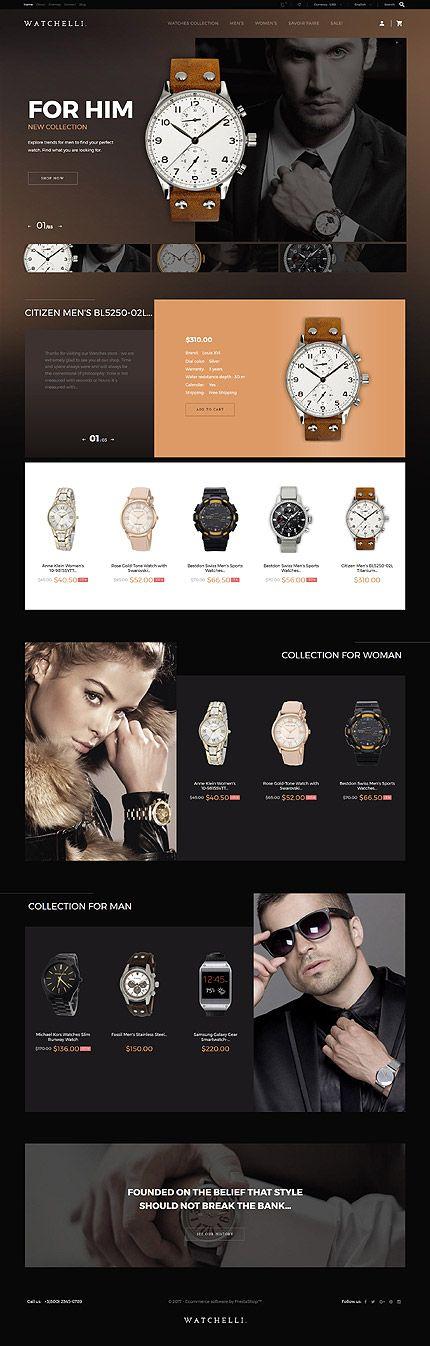 Template 62189 - Watchelli Watches Responsive PrestaShop Theme