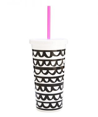 The Sip Sip Tumbler with a Straw: Fill it up with your favorite java and do not fall asleep in class! It has happened to me before!
