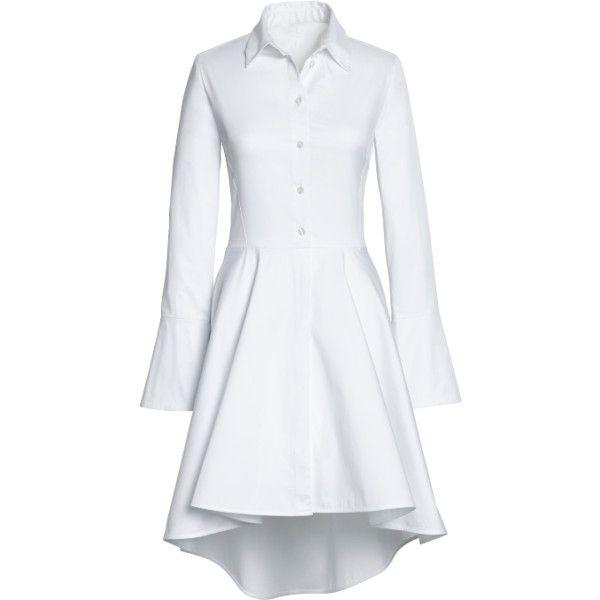 White shirt dress polyvore.