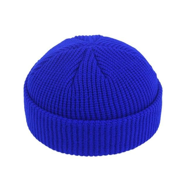 Woolen Mens Women Knitted Winter Warm Beanies Fisherman Solid Hat Cap HipHop
