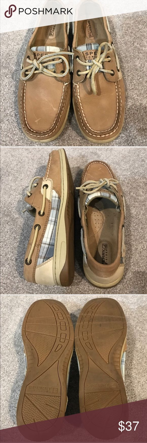 SPERRY SHOES SIZE 7M LEATHER UPPERS. SPERRY SHOES SIZE 7M LEATHER UPPERS. Very good condition. Small flaw on front of one shoe. See pic Sperry Top-Sider Shoes Flats & Loafers