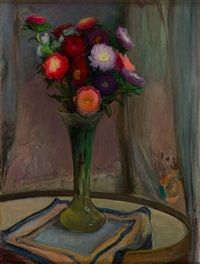 Flowers in a Vase by Wladyslaw Slewinski