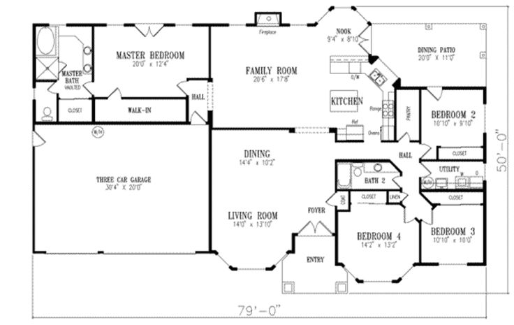 Main Floor Plan Plan 1 549 Add Office And Utility Room Between Garage And