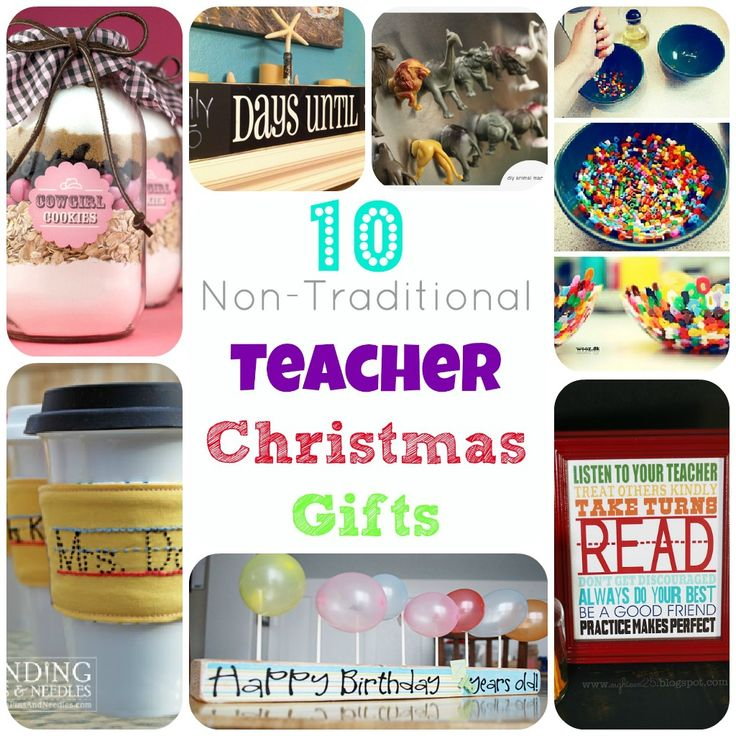 Links to non-traditional easy homemade teacher Christmas gifts. www.2littlesuperheroes.com #christmasgifts #teachergifts #gifts