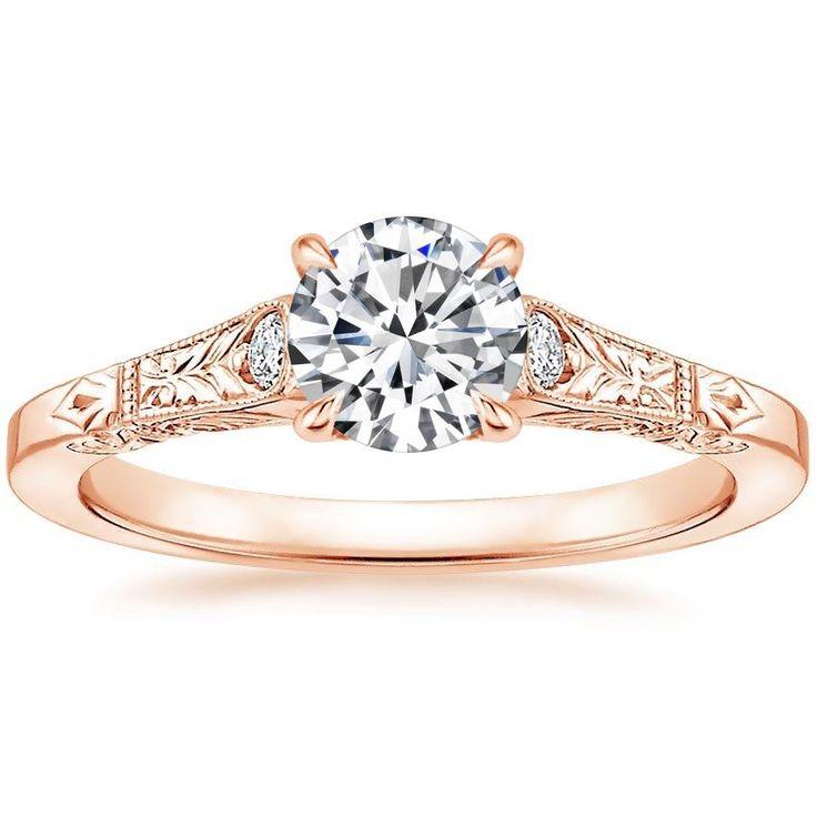 Asscher Cut Valentina Diamant-Verlobungsring – 18 Karat Gelbgold (Einstellungspreis)