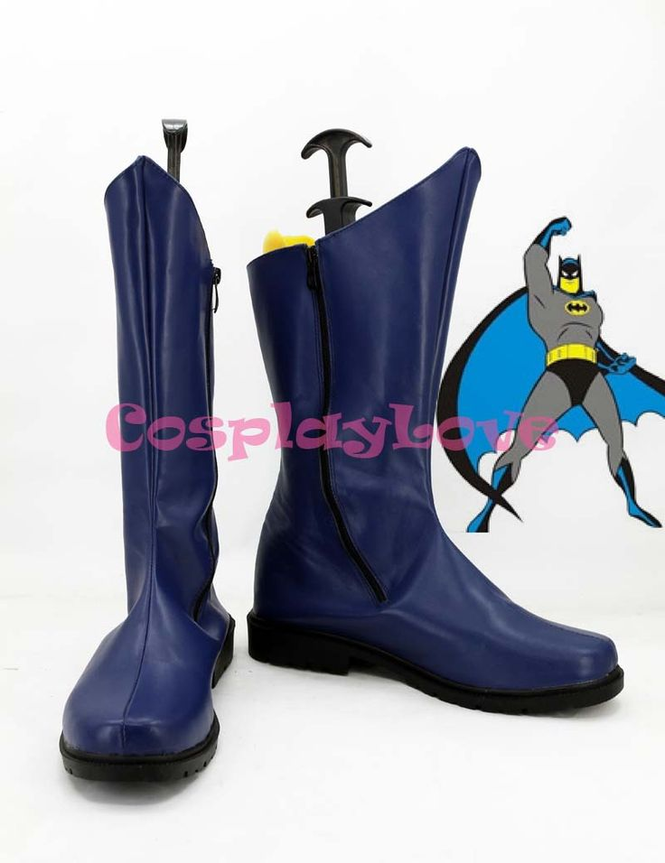 Newest Custom Made American Batman Movie Blue Batman Cosplay Shoes Long Boots For Halloween #Affiliate