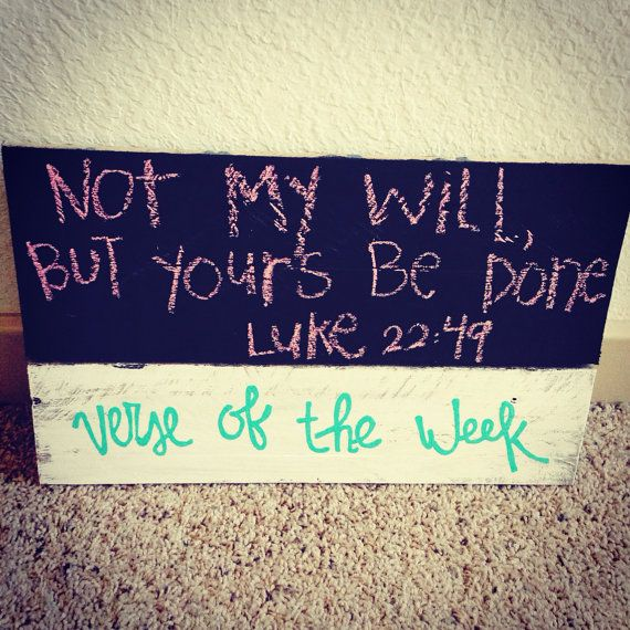 """Chalkboard """"verse of the week"""" sign on Etsy, $15.00"""