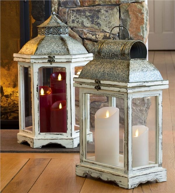Rustic Indoor Lanterns, Set Of 2